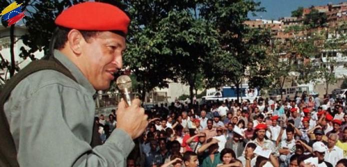 Hugo Chávez en campaña 1998