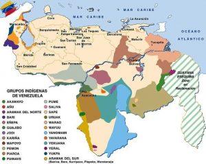 Mapa de las etnias indígenas de Venezuela