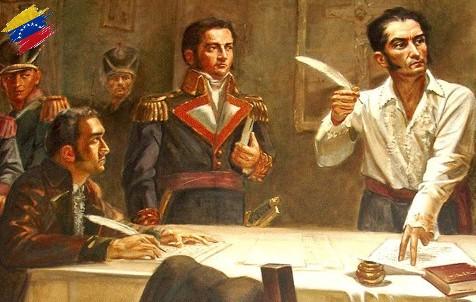 Firma del Decreto de Guerra a Muerte