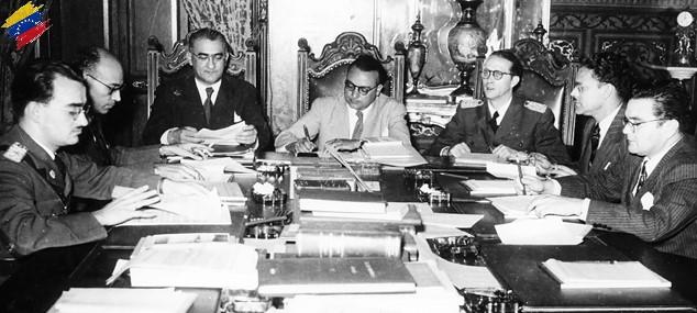 Miembros de la Junta Revolucionaria de Gobierno de 1945