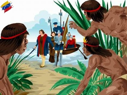 Llegada de Cristóbal Colón a Venezuela