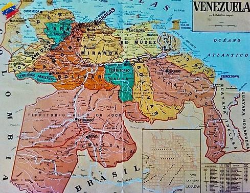 Mapa de los Estados Unidos de Venezuela