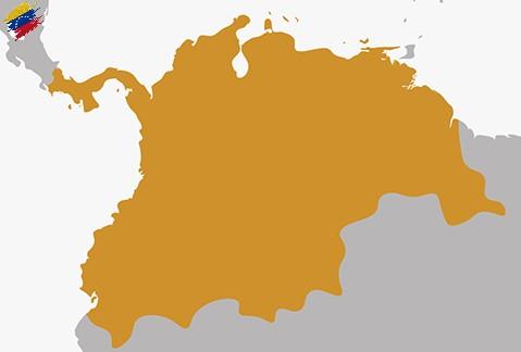 Mapa del Virreinato de Nueva Granada