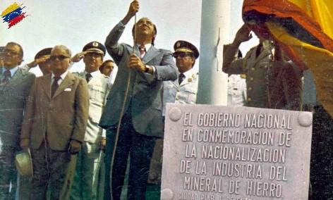 Carlos Andrés Pérez nacionalizando el hierro