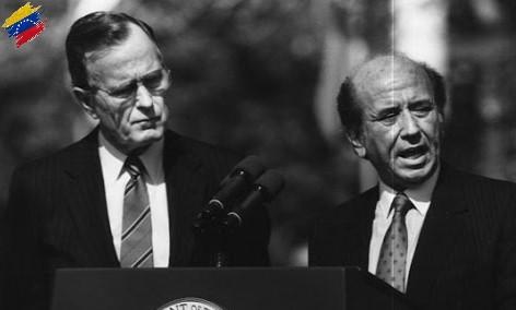 Carlos Andrés Pérez y George H. Bush