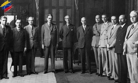 Eleazar López Contreras y su gabinete ministerial