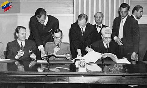 Firma del Acuerdo de Ginebra