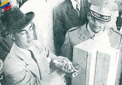 Germán Suárez Flamerich inaugurando obras
