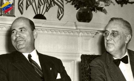 Isaías Medina Angarita y Franklin Roosevelt