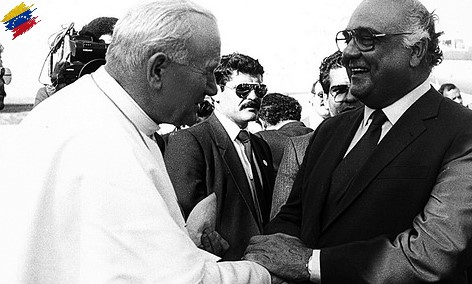 Jaime Lusinchi y Juan Pablo II
