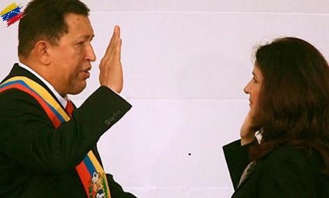 Juramentación de Hugo Chávez, año 2007