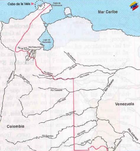Línea fronteriza del tratado Michelena Pombo de 1833