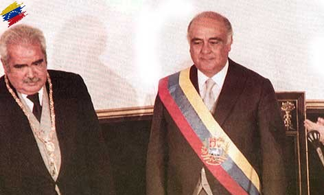 Luis Herrera Campíns y Jaime Lusinchi