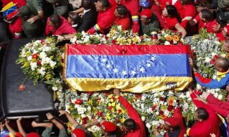 Procesión fúnebre de Hugo Chávez