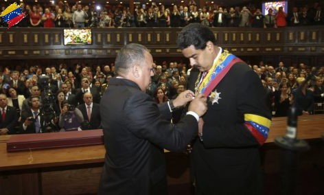 Nicolás Maduro presidente encargado