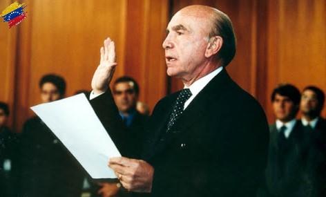 Pedro Carmona juramentándose