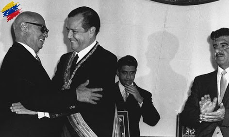 Raúl Leoni y Rafael Caldera