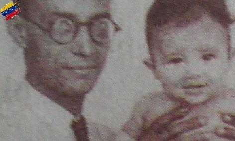 Raúl Leoni y su hijo