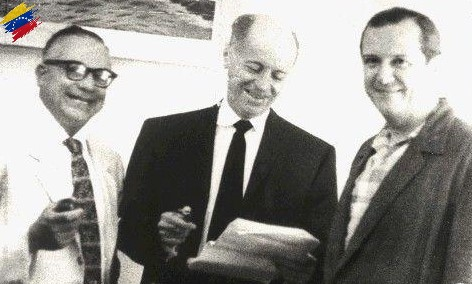 Rómulo Betancourt, Jóvito Villalba y Rafael Caldera