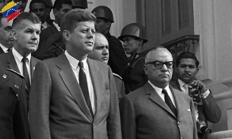 Rómulo Betancourt y John F. Kennedy