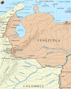 Frontera establecida en el Tratado de Límites de Venezuela y Colombia del año 1941